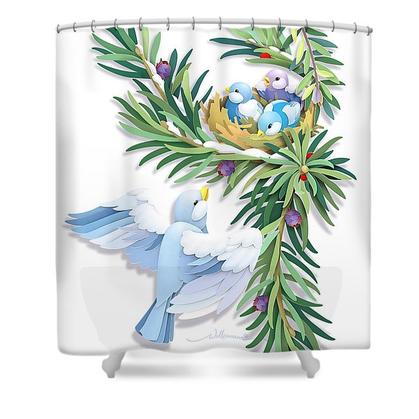 Checking In Shower Curtain