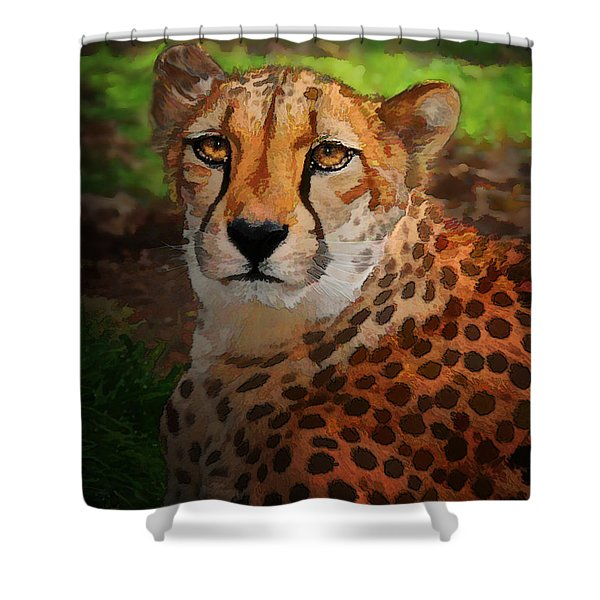 Cheetah Mama Shower Curtain