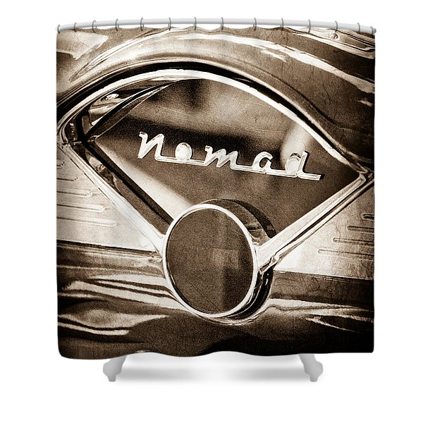 Chevrolet Belair Nomad Dashboard Emblem Shower Curtain