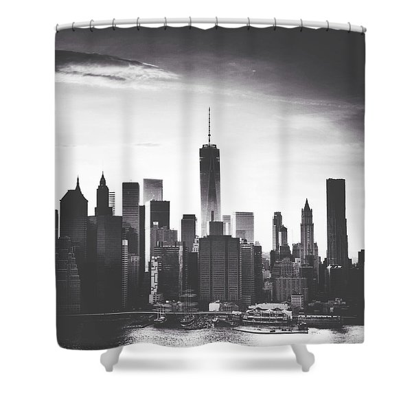 Chiaroscuro City Shower Curtain