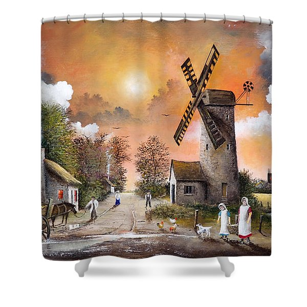 Shower Curtain featuring the painting Church View by Ken Wood