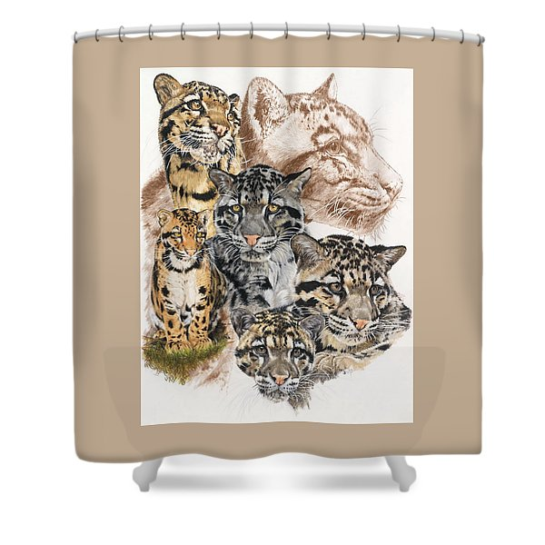 Shower Curtain featuring the mixed media Cloudburst by Barbara Keith