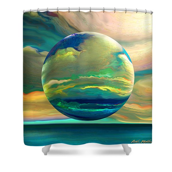 Clouding The Poets Eye Shower Curtain