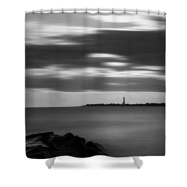 Clouds In Motion Bw Shower Curtain