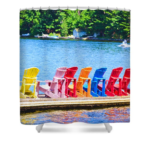 Colorful Chairs Shower Curtain