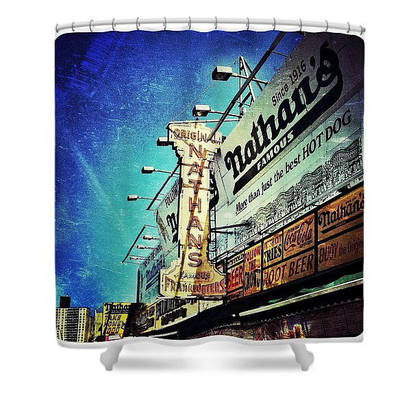 Coney Island Grub Shower Curtain