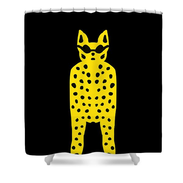 Simply Cool For Cats  Shower Curtain