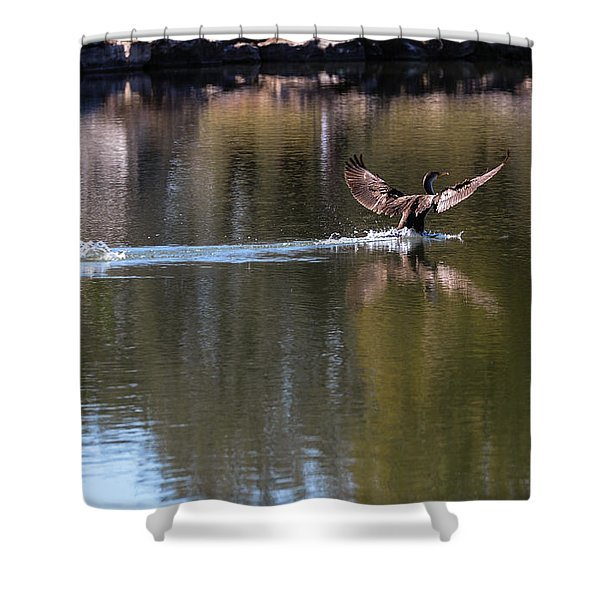 Cormorant Landing Shower Curtain