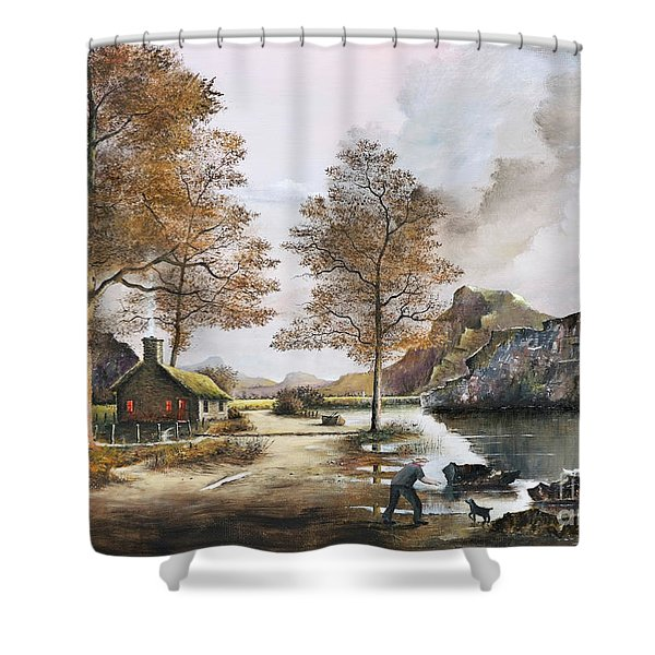 Crofters Cottages Shower Curtain