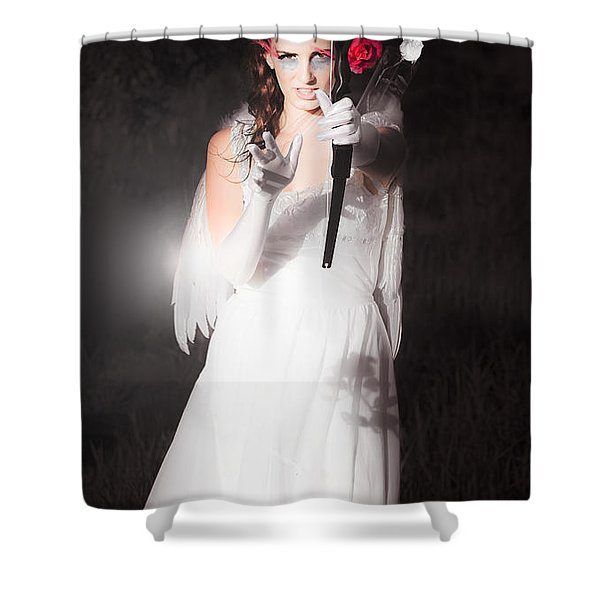 Cupid Igniting The Spark Of Love Shower Curtain
