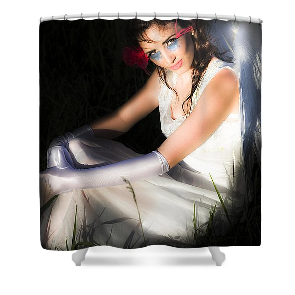 Cupid The Angel Of Love Shower Curtain