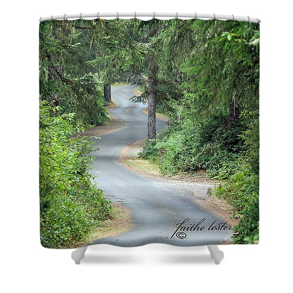 Curves Into Leadbetter Point State Park II Shower Curtain