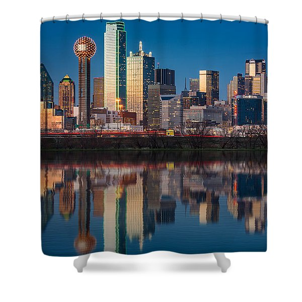 Dallas Skyline Shower Curtain