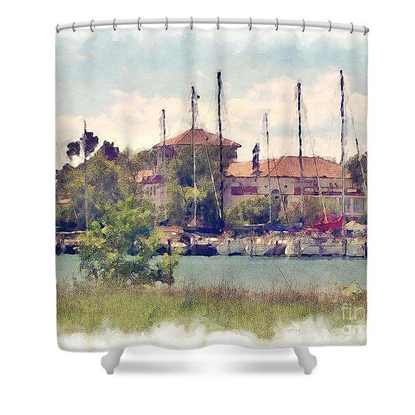 Detroit Yacht Club Shower Curtain