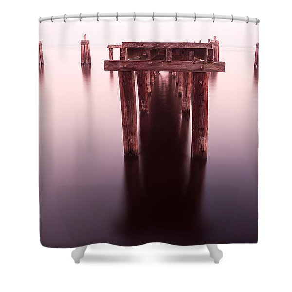 Dock At Twilight Shower Curtain