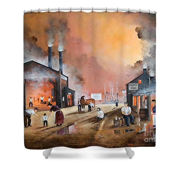 Dudleys By Gone Days Shower Curtain