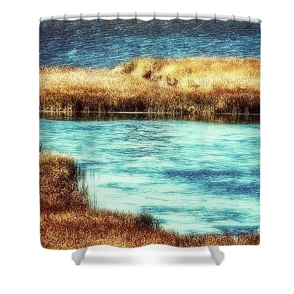 Edge Of The Marsh Shower Curtain