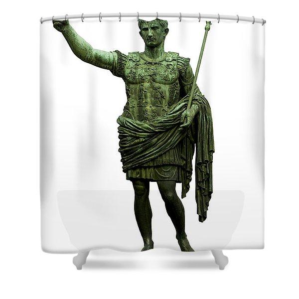 Shower Curtain featuring the photograph Emperor Caesar Augustus by Fabrizio Troiani