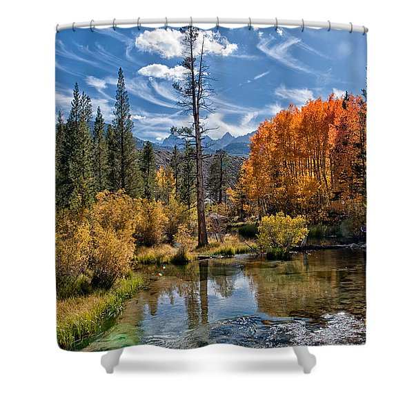 Fall At Bishop Creek Shower Curtain