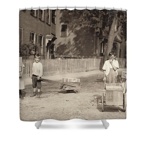 Family Of Workers, 1912 Shower Curtain