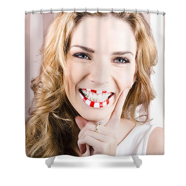 Fashion Cosmetic Lifestyle. Retro Makeup Woman Shower Curtain
