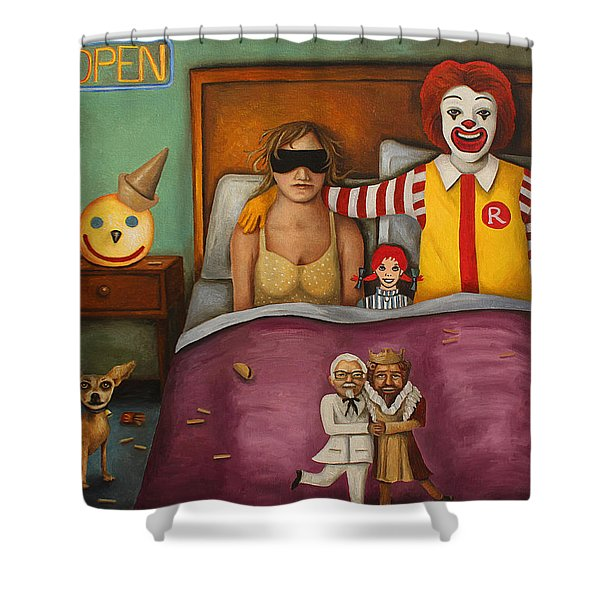 Fast Food Nightmare Shower Curtain