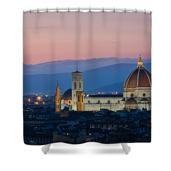 Florence At Sunset Shower Curtain