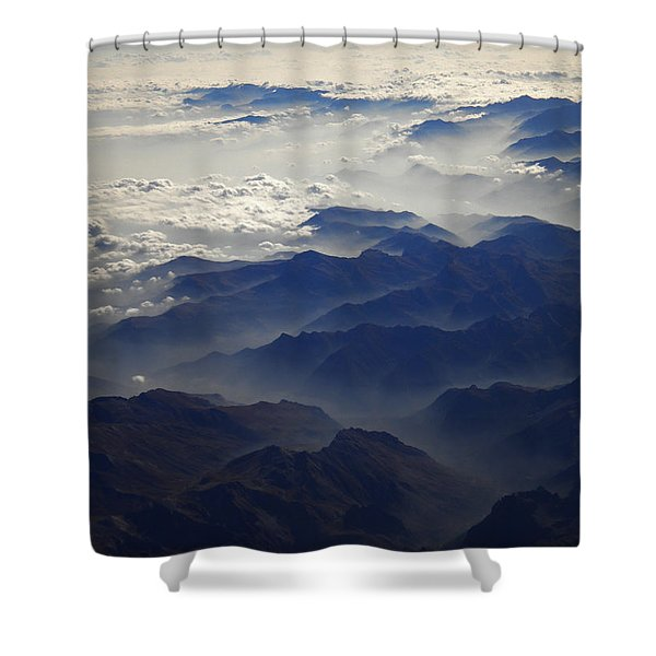 Flying Over The Alps In Europe Shower Curtain