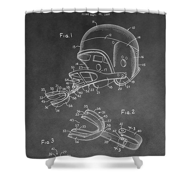 Football Helmet Patent Shower Curtain