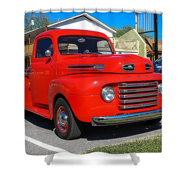Shower Curtain featuring the photograph Ford Truck by Robert L Jackson