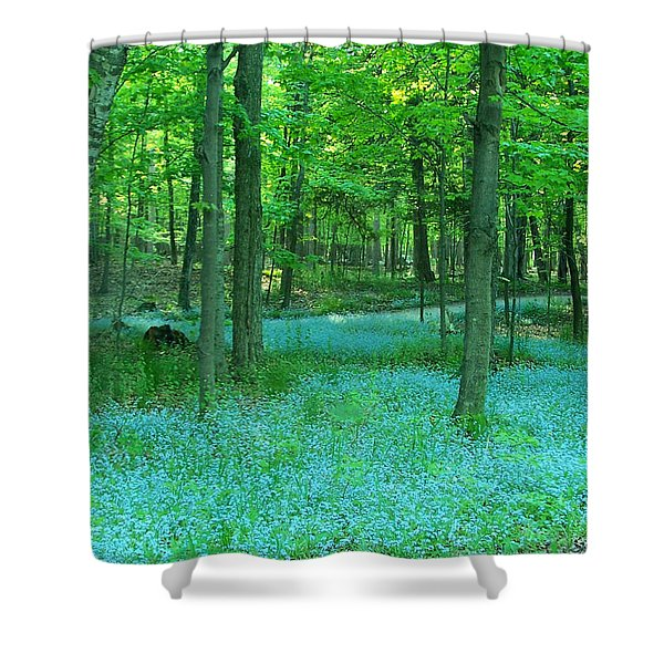 Forget-me-nots In Peninsula State Park Shower Curtain