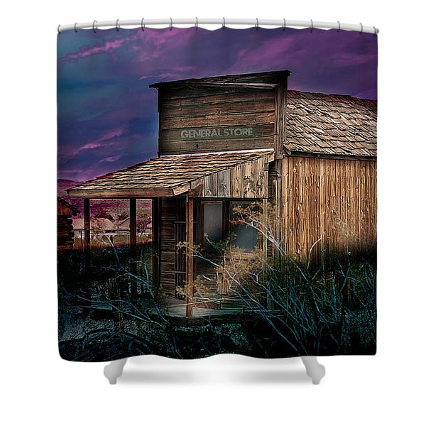 Shower Curtain featuring the photograph General Store by Gunter Nezhoda
