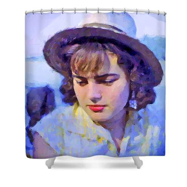 German Girl On The Rhine Shower Curtain