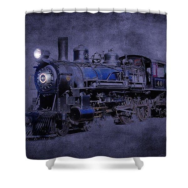 Shower Curtain featuring the photograph Ghost Train by Gunter Nezhoda