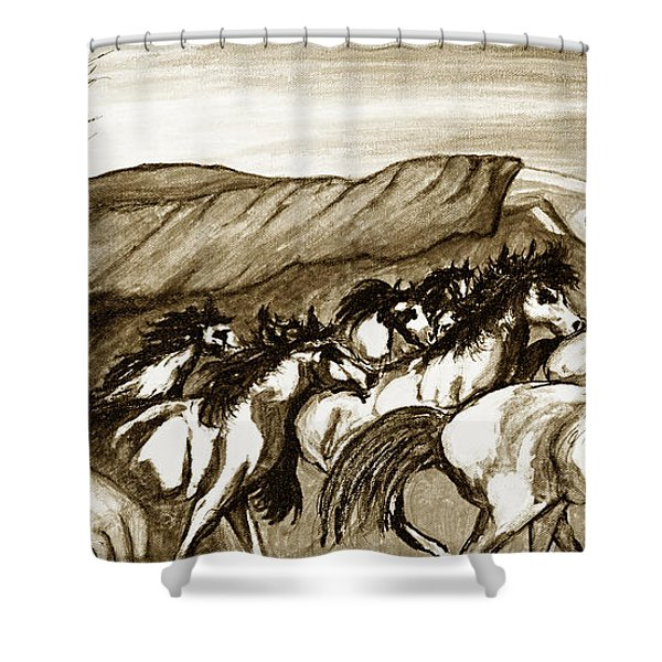 Gift Of The Pinto Shower Curtain
