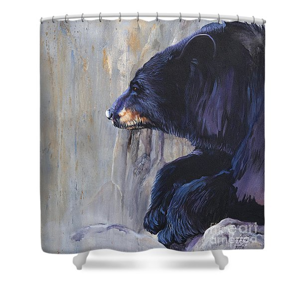 Grandfather Bear Shower Curtain