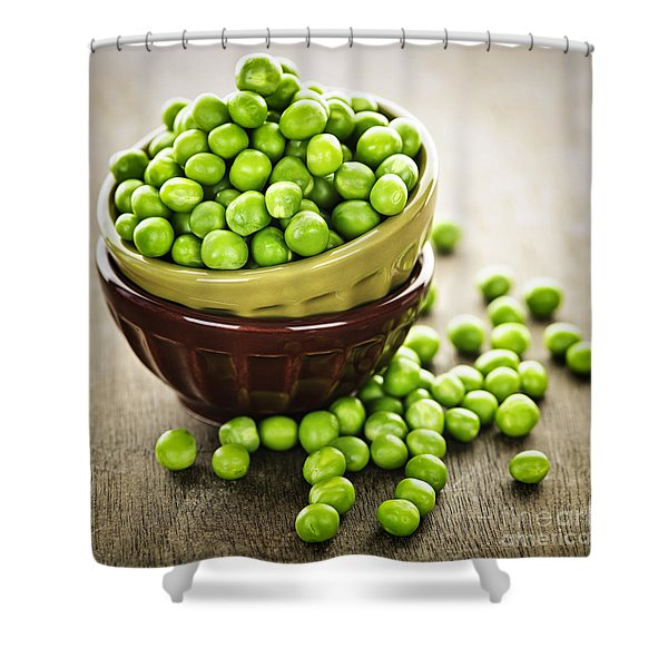 Green Peas Shower Curtain