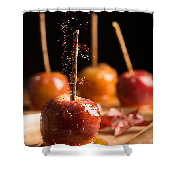 Group Of Toffee Apples Shower Curtain
