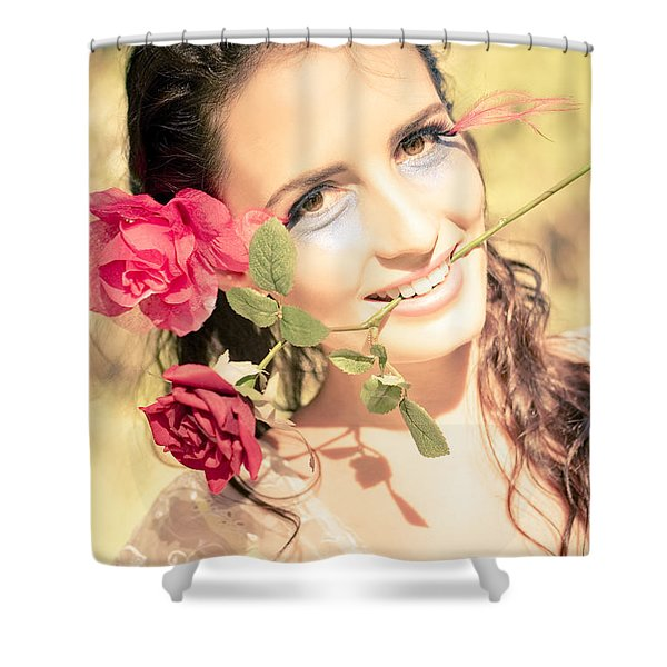 Happy In Love Shower Curtain