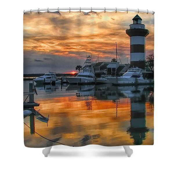 Harbour Town Sunset Shower Curtain