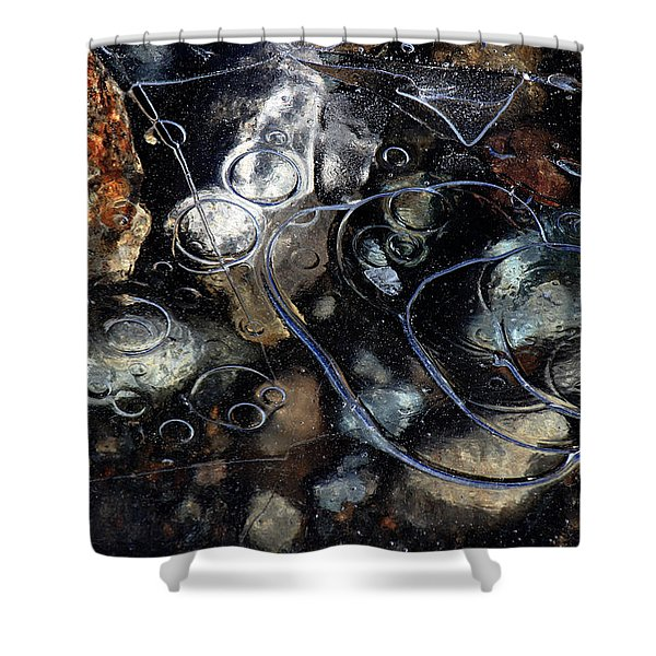 Shower Curtain featuring the photograph Hard Water by Randy Hall
