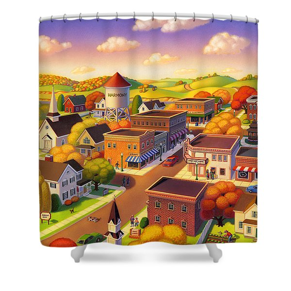Harmony Town Shower Curtain