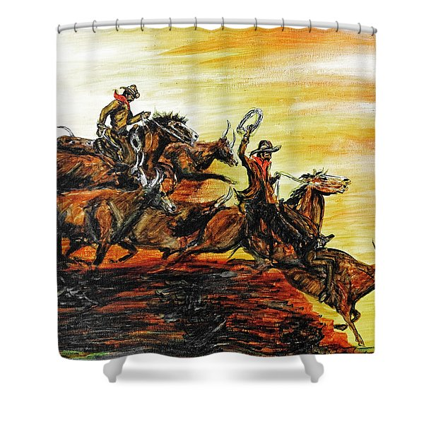 Hol-ly Cow Shower Curtain
