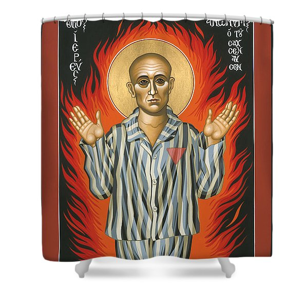 Holy Priest Anonymous One Of Sachsenhausen 013 Shower Curtain