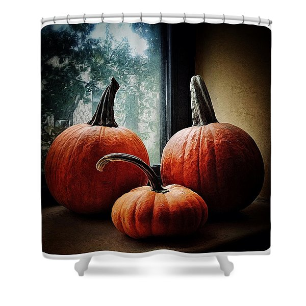 I Love Pumpkins Shower Curtain
