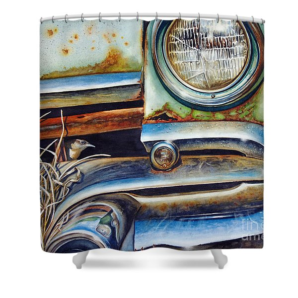 In The Beaten Path Shower Curtain