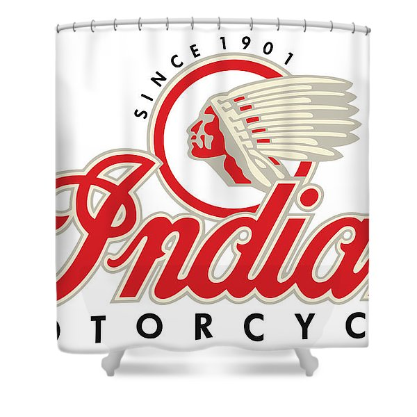 Indian Motorcycle Logo Shower Curtain
