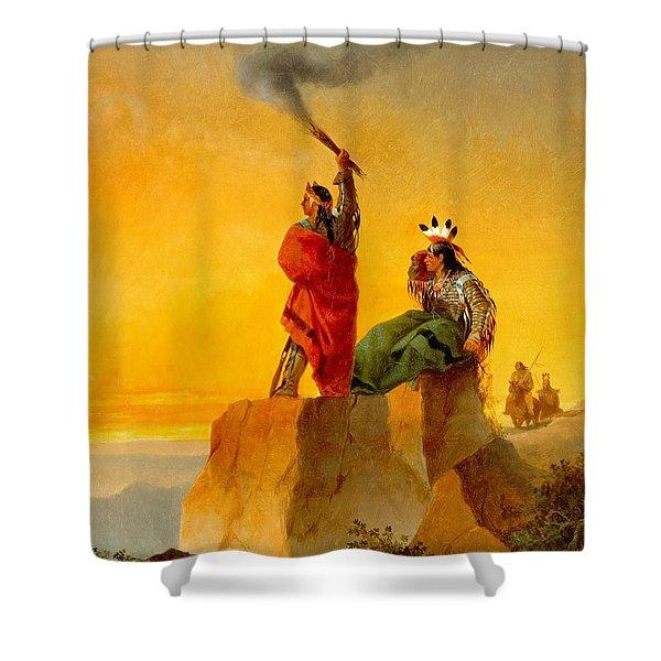 Indian Telegraph Shower Curtain