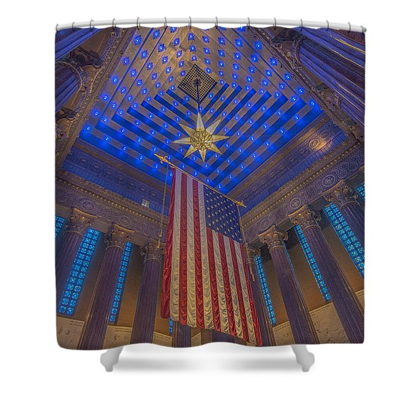 Indiana War Memorial Shrine  Shower Curtain