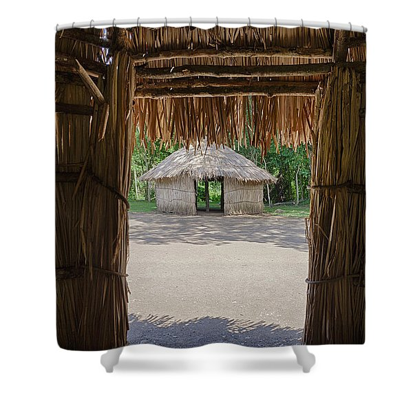 Shower Curtain featuring the photograph Indigenous Tribe Huts In Puer by Bryan Mullennix